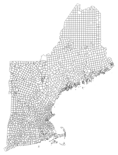 New England town Basic unit of local government in each of the six New England federated states of the United States