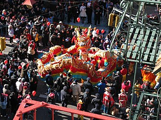 Chinatown, Manhattan - Chinese New Year celebration in Chinatown.