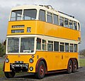 Newcastle Corporation bus 501 (LTN 501), Beamish Museum, 11 April 2012 (1) (cropped).jpg