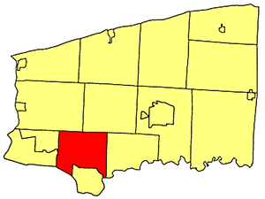 Wheatfield, New York - Location within Niagara County.
