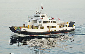 MV Nicola (1960) - Image: Nicola PR Harbour
