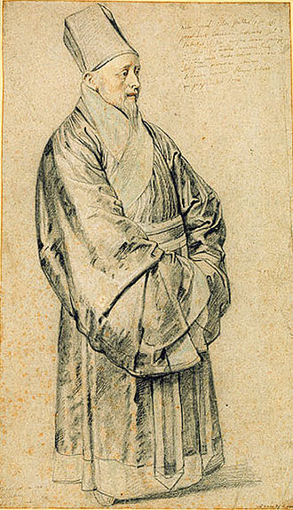 China–France relations - Nicolas Trigault (1577–1629) in Chinese costume, by Peter Paul Rubens.