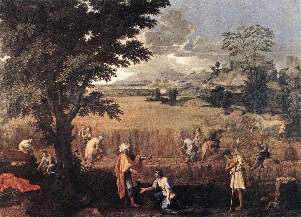 룻과 보아스 (니콜라 푸생, Nicolas Poussin, 1660~1664년)