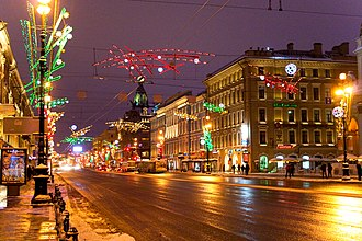 Nevsky Prospect - Nevsky Prospect in January 2010