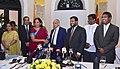 Nirmala Sitharaman and the Minister of Development Strategies and International Trade of Sri Lanka, Mr. Malik Samarawickrama at the bilateral meeting, in Colombo, Sri Lanka (1).jpg