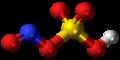 Nitrosylsulfuric acid molecule ball.png