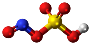 Nitrosylsulfuric acid - Image: Nitrosylsulfuric acid molecule ball