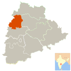 Location in Telangana, India (Officially from 2nd June 2014)