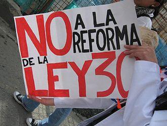 2011 Colombian student protests - Image: No a la reforma de la ley 30