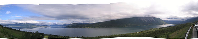 Nordkjosen Balsfjord in Troms fylke, Norway
