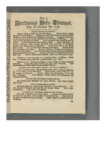 File:Norrköpings Wecko-Tidningar 1758-10-28.djvu