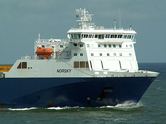 MS Norsky - Norsky entering Zeebrugge harbour