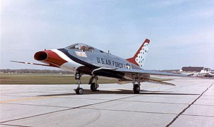 Not with My Wife, You Don't! - The North American F-100D Super Sabre serving with the Thunderbirds air demonstration team.