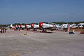 North American SNJ Texans GEICO Skytypers LSideFronts TICO 16March2014 (14486703867).jpg