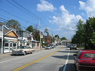 North Creek, New York - Main Street in North Creek Business District.