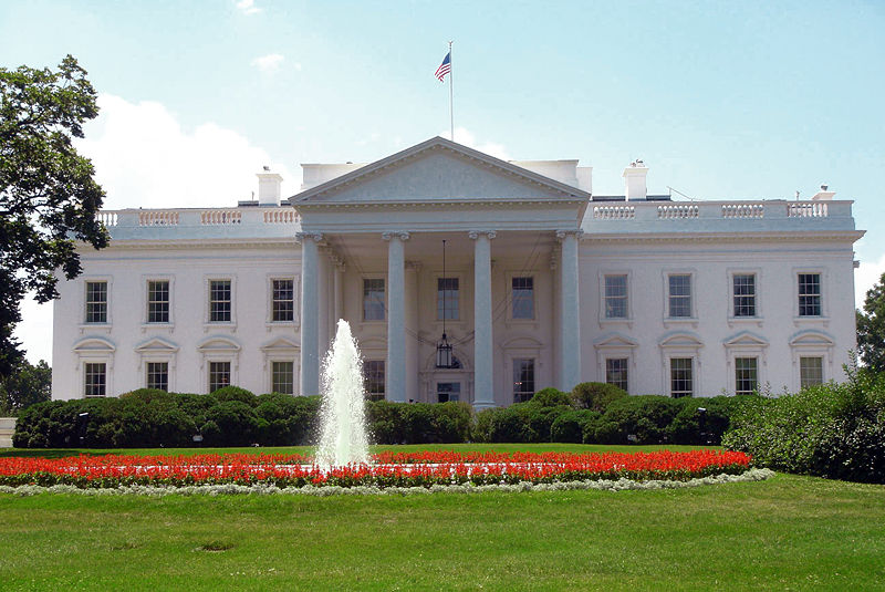 north face of U.S. White House
