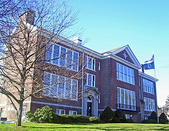 Spring Valley, New York - Former North Main Street School, now a satellite campus of Rockland Community College