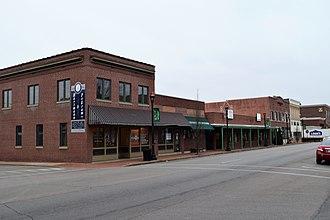 East Columbia Historic District (Farmington, Missouri) - Image: North side of 100 block of East Columbia, Farmington, MO