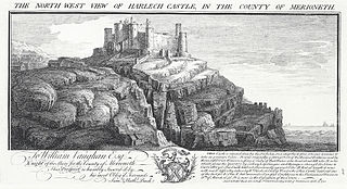 North west view of Harlech Castle, in the county of Merioneth