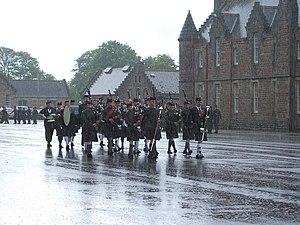 Cameron Barracks - Northern Constabulary Pipe Band at Cameron Barracks