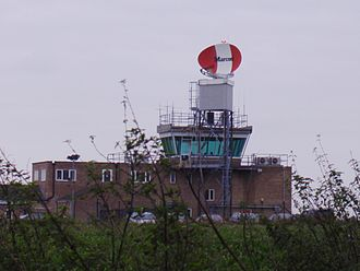 Norwich Airport - Control tower at Norwich International Airport.