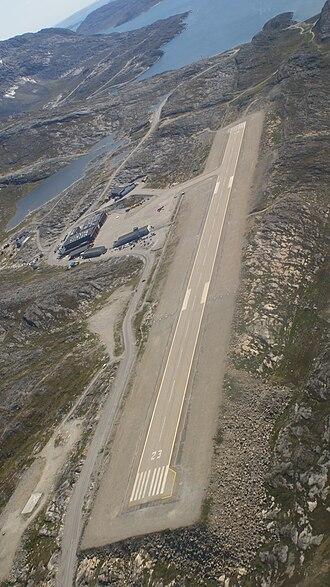 Nuuk Airport - Aerial view of the runway