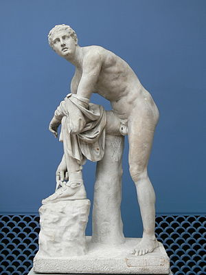 Bartolomeo Cavaceppi - The Sandalbinder, an antique statue restored by Cavaceppi, Ny Carlsberg Glyptotek