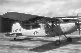 21st Tactical Air Support Squadron - 0–1 Bird Dog of the 21st Tactical Air Support Squadron at Pleiku Air Base, South Vietnam, 1968/69 (USAF photo).