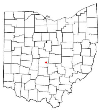 Whitehall, Ohio - Image: OH Map doton Whitehall