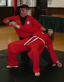 Okimakhan Lépine demonstrating a technique