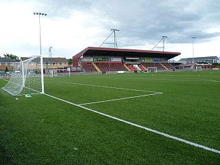Ochilview Park Football stadium in Stenhousemuir, Scotland