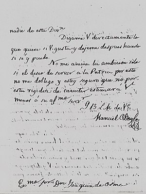 Battle of Alegría de Álava - Back of the letter.