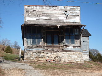 Jamesville, Missouri - Old store building along Route M in Jamesville