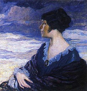 Olga Della-Vos-Kardovskaya - Image: Olga Della Vos Kardovskaya self portrait (1917)