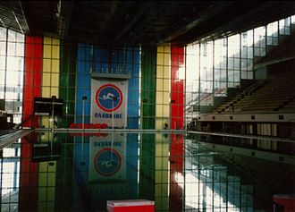 Swimming at the 1980 Summer Olympics - Olimpiysky Pool, Moscow, as seen in 1991