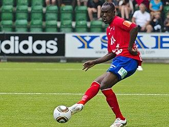 Olivier Karekezi - Karekezi playing for Östers IF on 23 July 2011.