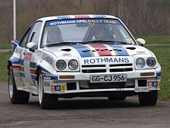 Guy Fréquelin w Oplu Manta 400 podczas Race Retro 2008, International Historic Motorsport Show