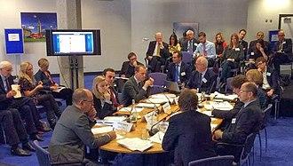 Open Europe - Open Europe's EU War Game negotiation simulation with former Irish PM John Bruton
