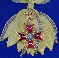 Order of Fidelity grand cross badge sash (Baden 1877-1897) - Tallinn Museum of Orders.jpg