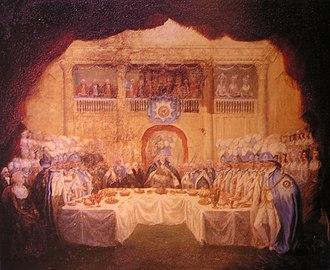 1783 in Ireland - Image: Order of St Patrick installation banquet