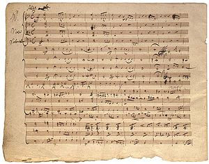 String Quartet No. 14 (Schubert) - Original manuscript of Death and the Maiden quartet, from the Mary Flagler Cary Music Collection, Morgan Library, New York