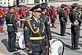 Orkiestra mongolskiej armii na placu Suche Batora w Ułan Bator 05.JPG