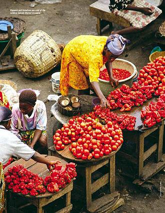 Agriculture in Nigeria - A farmers market in Nigeria.