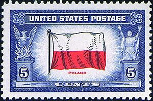 Poland–United States relations - Image: Overun countries Poland, issue of 1943