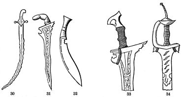 PSM V21 D091 Asiatic curved swords and surviving methods of attachment.jpg