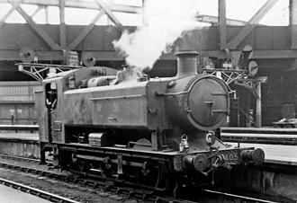 GWR 9400 Class - 9405 at Paddington in 1947