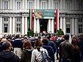 Palazzo Ducale - vista piazza G.Matteotti Celebrazione 25 Aprile 2019 foto 2.jpg