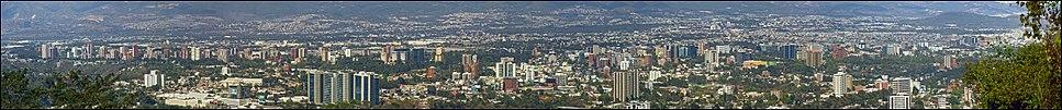 Panoramic view of Guatemala City.