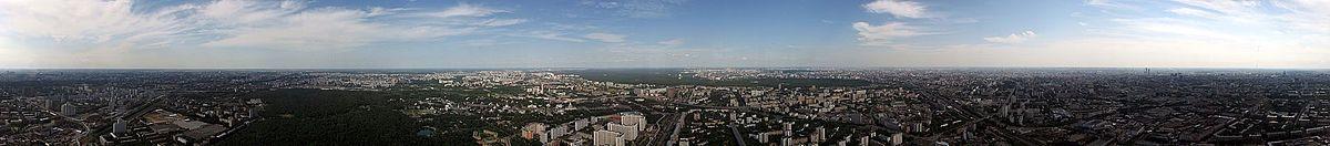 Панорама 360 градусов со смотровой площадки на высоте 337 метров