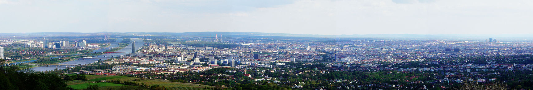 Panorama over Wien, fra Kahlenberg